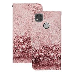 Glittering Rose Gold PU Leather Wallet Case for Xiaomi Redmi 9C