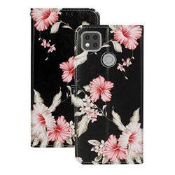 Azalea Flower PU Leather Wallet Case for Xiaomi Redmi 9C