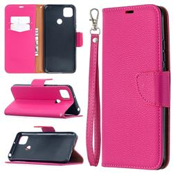Classic Luxury Litchi Leather Phone Wallet Case for Xiaomi Redmi 9C - Rose