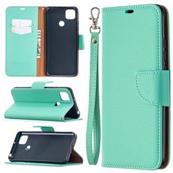 Classic Luxury Litchi Leather Phone Wallet Case for Xiaomi Redmi 9C - Green