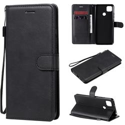 Retro Greek Classic Smooth PU Leather Wallet Phone Case for Xiaomi Redmi 9C - Black