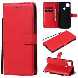 Retro Greek Classic Smooth PU Leather Wallet Phone Case for Xiaomi Redmi 9C - Red