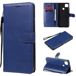 Retro Greek Classic Smooth PU Leather Wallet Phone Case for Xiaomi Redmi 9C - Blue