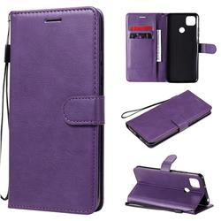 Retro Greek Classic Smooth PU Leather Wallet Phone Case for Xiaomi Redmi 9C - Purple
