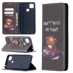 Chainsaw Bear Slim Magnetic Attraction Wallet Flip Cover for Xiaomi Redmi 9C