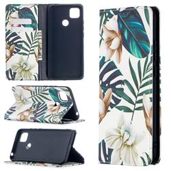Flower Leaf Slim Magnetic Attraction Wallet Flip Cover for Xiaomi Redmi 9C