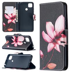 Lotus Flower Leather Wallet Case for Xiaomi Redmi 9C