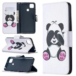 Lovely Panda Leather Wallet Case for Xiaomi Redmi 9C