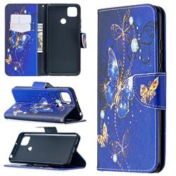 Purple Butterfly Leather Wallet Case for Xiaomi Redmi 9C