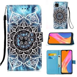 Underwater Mandala Matte Leather Wallet Phone Case for Xiaomi Redmi 9C