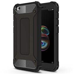 King Kong Armor Premium Shockproof Dual Layer Rugged Hard Cover for Mi Xiaomi Redmi Go - Black Gold