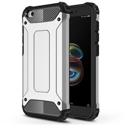 King Kong Armor Premium Shockproof Dual Layer Rugged Hard Cover for Mi Xiaomi Redmi Go - White