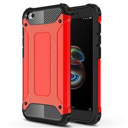 King Kong Armor Premium Shockproof Dual Layer Rugged Hard Cover for Mi Xiaomi Redmi Go - Big Red