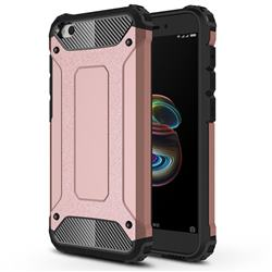 King Kong Armor Premium Shockproof Dual Layer Rugged Hard Cover for Mi Xiaomi Redmi Go - Rose Gold