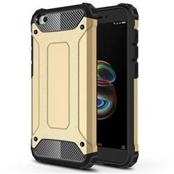 King Kong Armor Premium Shockproof Dual Layer Rugged Hard Cover for Mi Xiaomi Redmi Go - Champagne Gold