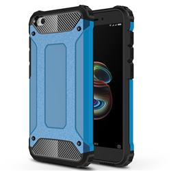 King Kong Armor Premium Shockproof Dual Layer Rugged Hard Cover for Mi Xiaomi Redmi Go - Sky Blue