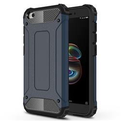 King Kong Armor Premium Shockproof Dual Layer Rugged Hard Cover for Mi Xiaomi Redmi Go - Navy