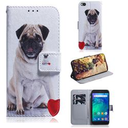 Pug Dog PU Leather Wallet Case for Mi Xiaomi Redmi Go