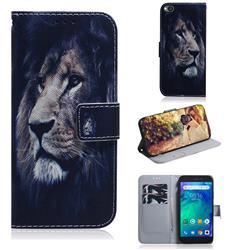 Lion Face PU Leather Wallet Case for Mi Xiaomi Redmi Go