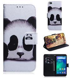Sleeping Panda PU Leather Wallet Case for Mi Xiaomi Redmi Go