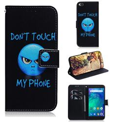 Not Touch My Phone PU Leather Wallet Case for Mi Xiaomi Redmi Go