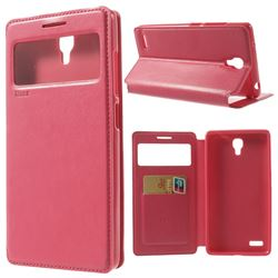 Roar Korea Noble View Leather Flip Cover for Xiaomi Redmi Note / Hongmi Note - Rose