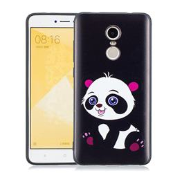 Cute Pink Panda 3D Embossed Relief Black Soft Phone Back Cover for Xiaomi Redmi Note 4 Red Mi Note4