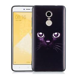 Black Cat Eyes 3D Embossed Relief Black Soft Phone Back Cover for Xiaomi Redmi Note 4 Red Mi Note4