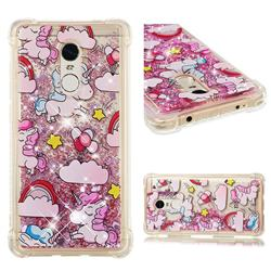 Angel Pony Dynamic Liquid Glitter Sand Quicksand Star TPU Case for Xiaomi Redmi Note 4 Red Mi Note4
