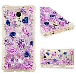 Diamond Dynamic Liquid Glitter Sand Quicksand Star TPU Case for Xiaomi Redmi Note 4 Red Mi Note4