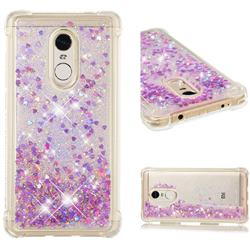 Dynamic Liquid Glitter Sand Quicksand Star TPU Case for Xiaomi Redmi Note 4 Red Mi Note4 - Rose