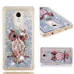Seashell Owl Dynamic Liquid Glitter Quicksand Soft TPU Case for Xiaomi Redmi Note 4 Red Mi Note4