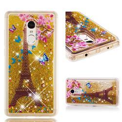 Golden Tower Dynamic Liquid Glitter Quicksand Soft TPU Case for Xiaomi Redmi Note 4 Red Mi Note4