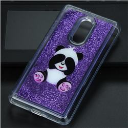Naughty Panda Glassy Glitter Quicksand Dynamic Liquid Soft Phone Case for Xiaomi Redmi Note 4 Red Mi Note4