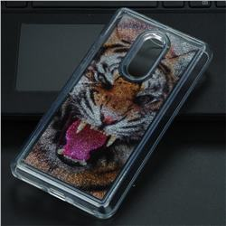 Tiger Glassy Glitter Quicksand Dynamic Liquid Soft Phone Case for Xiaomi Redmi Note 4 Red Mi Note4
