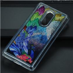 Phoenix Glassy Glitter Quicksand Dynamic Liquid Soft Phone Case for Xiaomi Redmi Note 4 Red Mi Note4