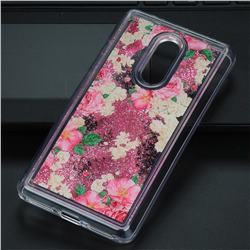 Rose Flower Glassy Glitter Quicksand Dynamic Liquid Soft Phone Case for Xiaomi Redmi Note 4 Red Mi Note4