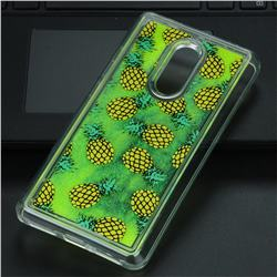 Pineapple Glassy Glitter Quicksand Dynamic Liquid Soft Phone Case for Xiaomi Redmi Note 4 Red Mi Note4