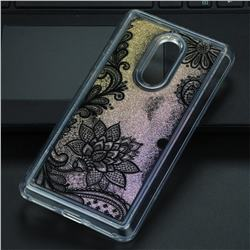 Diagonal Lace Glassy Glitter Quicksand Dynamic Liquid Soft Phone Case for Xiaomi Redmi Note 4 Red Mi Note4