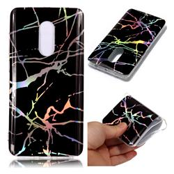 Plating Black Marble Pattern Bright Color Laser Soft TPU Case for Xiaomi Redmi Note 4 Red Mi Note4