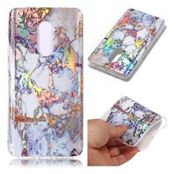 Gold Plating Marble Pattern Bright Color Laser Soft TPU Case for Xiaomi Redmi Note 4 Red Mi Note4