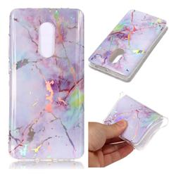 Pink Purple Marble Pattern Bright Color Laser Soft TPU Case for Xiaomi Redmi Note 4 Red Mi Note4