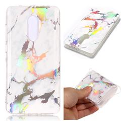 White Marble Pattern Bright Color Laser Soft TPU Case for Xiaomi Redmi Note 4 Red Mi Note4
