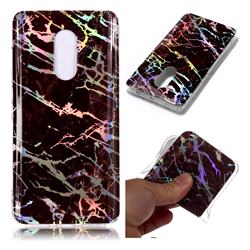 Black Brown Marble Pattern Bright Color Laser Soft TPU Case for Xiaomi Redmi Note 4 Red Mi Note4