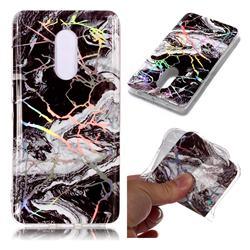 White Black Marble Pattern Bright Color Laser Soft TPU Case for Xiaomi Redmi Note 4 Red Mi Note4