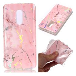 Powder Pink Marble Pattern Bright Color Laser Soft TPU Case for Xiaomi Redmi Note 4 Red Mi Note4