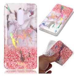 Powder Sandstone Marble Pattern Bright Color Laser Soft TPU Case for Xiaomi Redmi Note 4 Red Mi Note4
