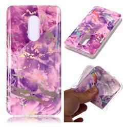 Purple Marble Pattern Bright Color Laser Soft TPU Case for Xiaomi Redmi Note 4 Red Mi Note4