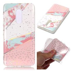 Matching Color Marble Pattern Bright Color Laser Soft TPU Case for Xiaomi Redmi Note 4 Red Mi Note4