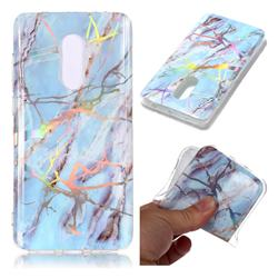 Light Blue Marble Pattern Bright Color Laser Soft TPU Case for Xiaomi Redmi Note 4 Red Mi Note4